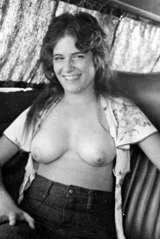 amateur girl with a nice smile from the 70s