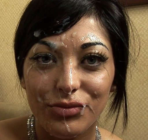 girl with cum on her face