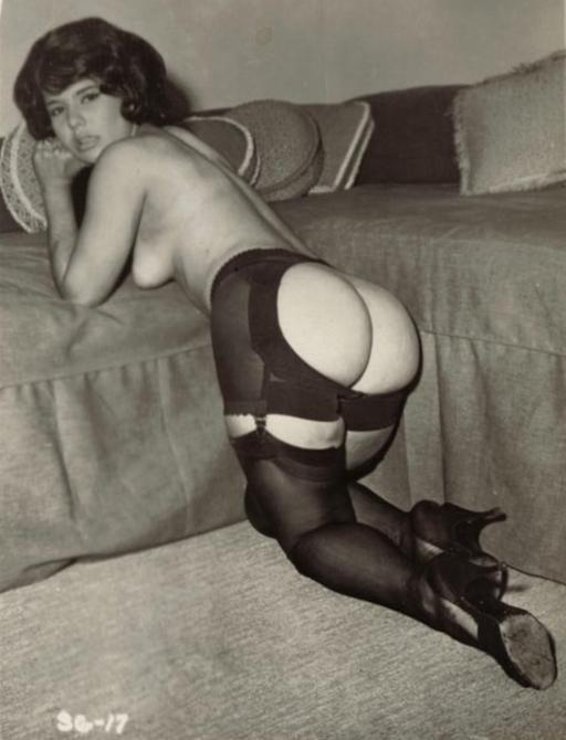 well-posed bottom in vintage lingerie