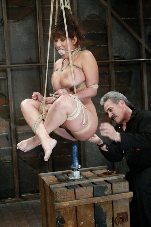 ava divine sit-n-spin dildo bondage