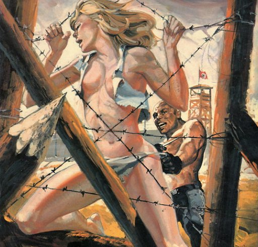 prison camp sex on the barbed wire