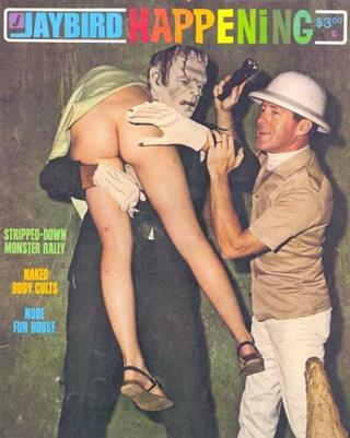 Frankenstein carries off a girl with a bare bottom