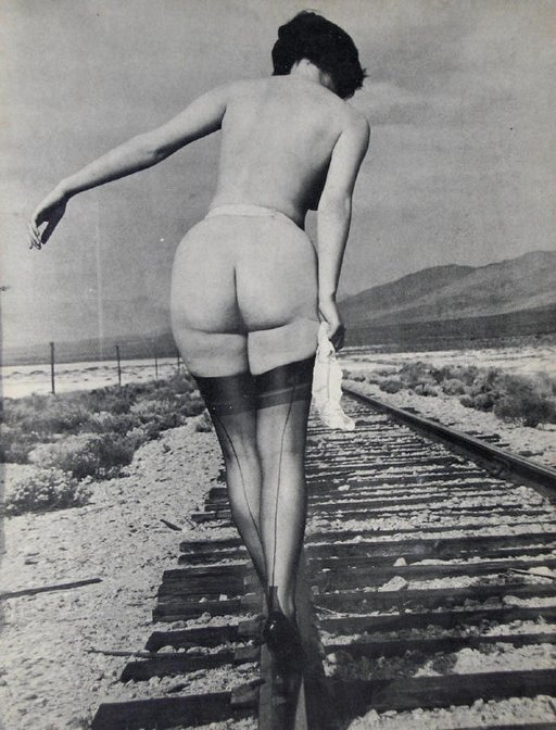 riding the rails in high heels
