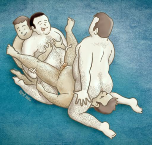 gay bears orgy art