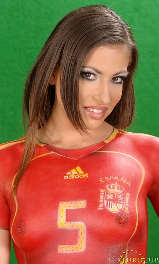body paint soccer uniforms