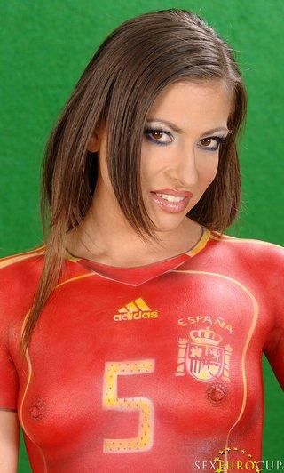 body paint soccer uniforms