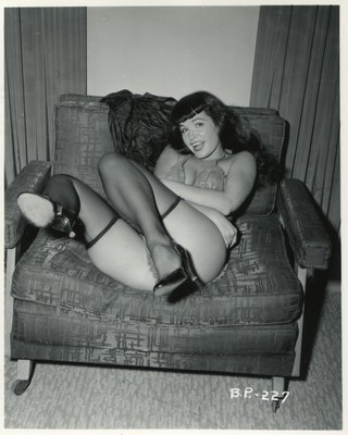 Betty Page and her famously open smile
