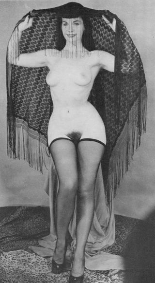 full length nude photo of the legendary Betty Page