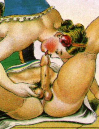 woman licking a penis and fingering the balls