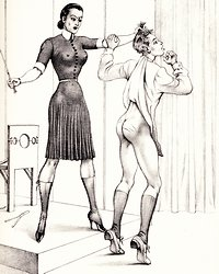 caning a submissive male slave