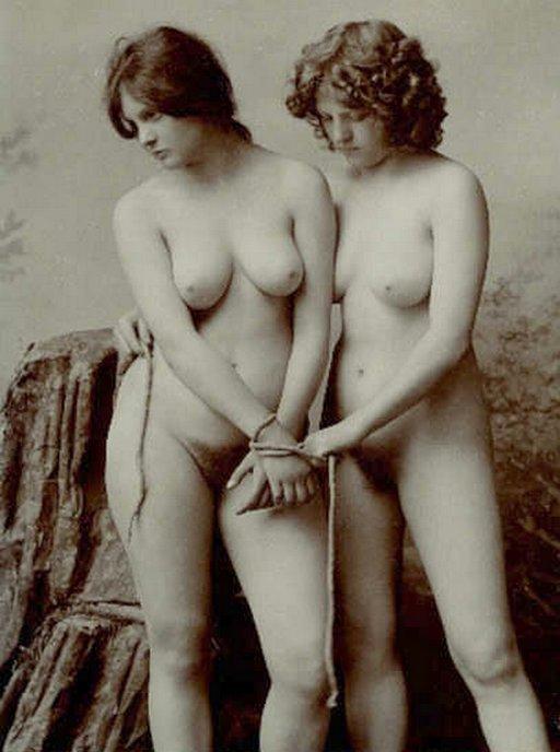 vintage bondage sisters postcard