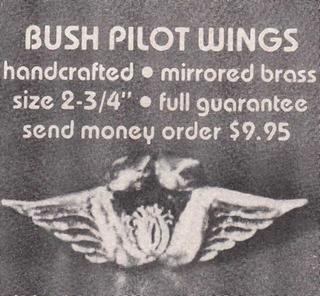 bush pilot wings badge
