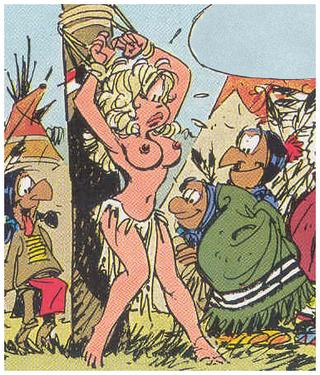 big titted blonde captured by wild indians, drawn by Dany in Rooie Oortjes