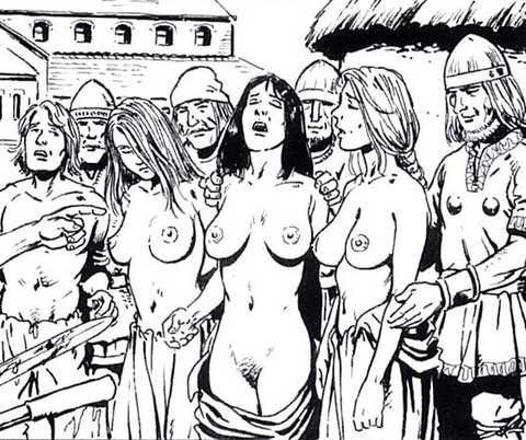 several viking captives