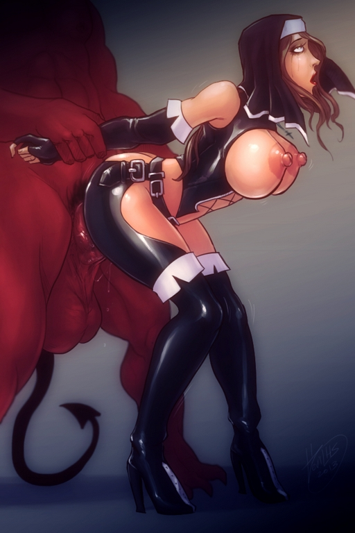 rubber nun ass fucked