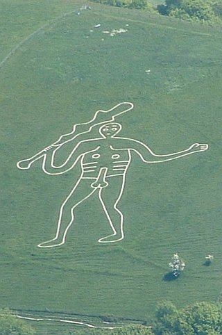 chalk giant with rampant penis