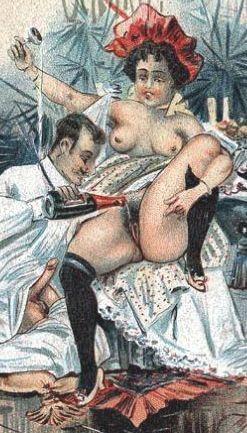 vintage boozy sex play