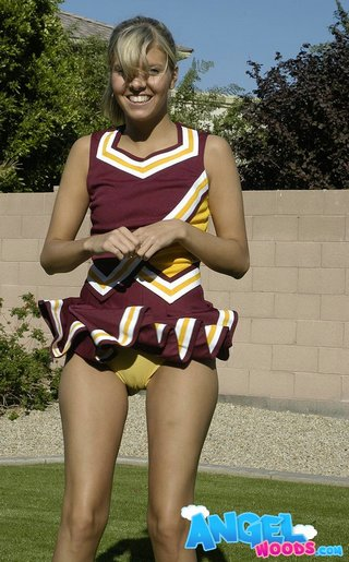 cheerleader showing her panties