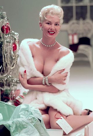 playboy model janet pilgrim coming unwrapped under your christmas tree