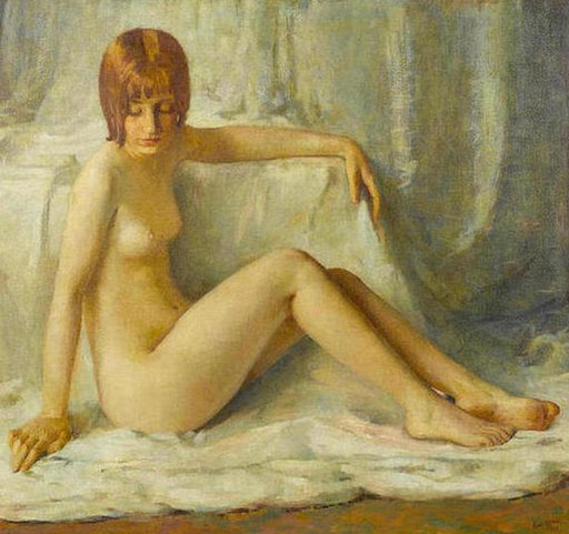 nude painting of actress Clara Bow