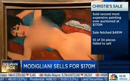 modigliani-reclining nude financial press censored