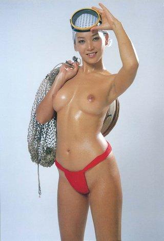 topless ama pinup girl