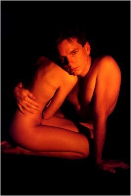 Beautiful warm nude embrace