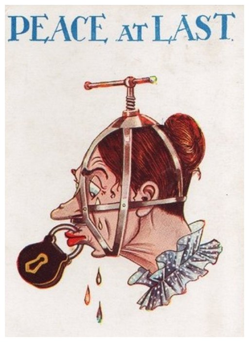 brank and bloody piercings to enforce the silence of suffragettes