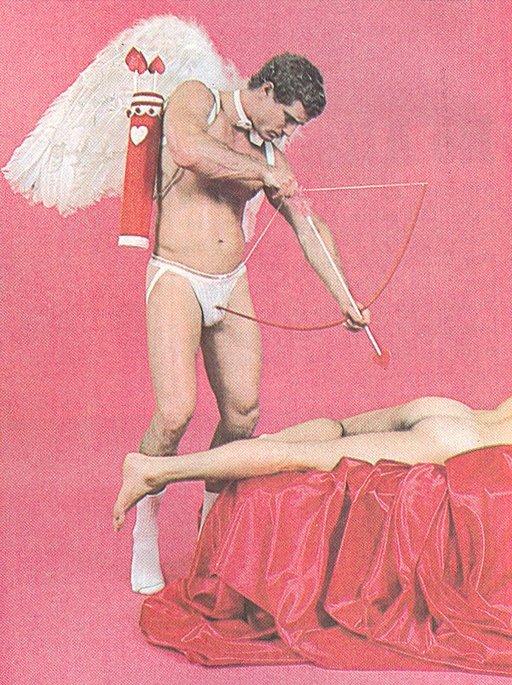 anal Cupid shooting his love arrow