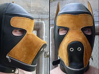 zippered dog-faced hood