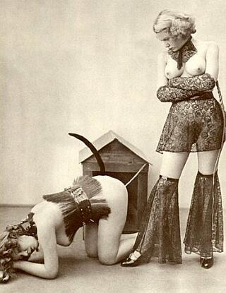 bdsm lesbians play bad doggie