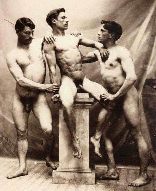 three naked men gay interest