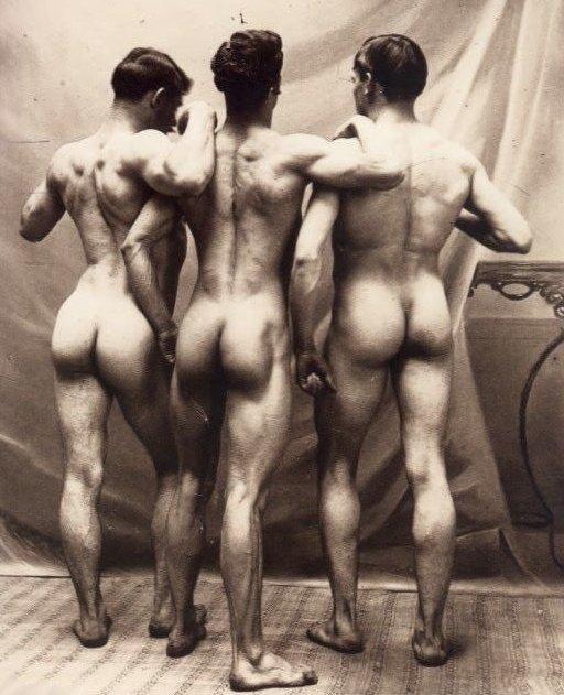 vintage naked men posing