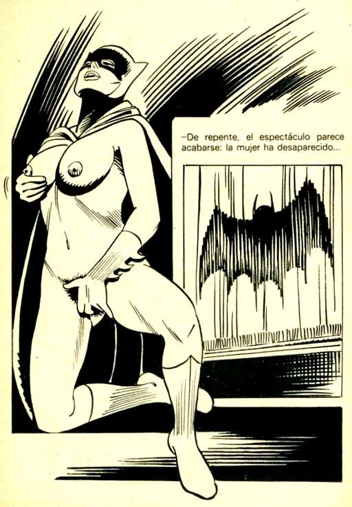 Bat Girl nude and masturbating