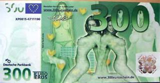 nude novelty euro bill