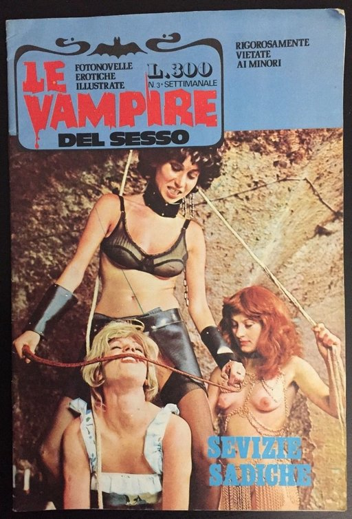 bogus BDSM on the cover of a vampire magazine