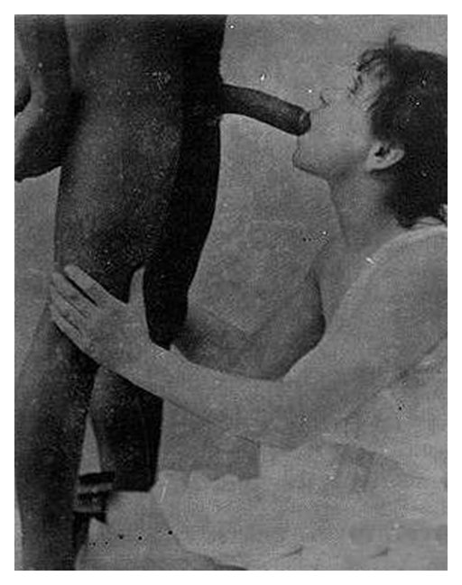 sucking his black dick vintage photo