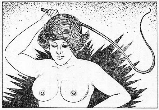 femdom whipping in progress japanese fetish art