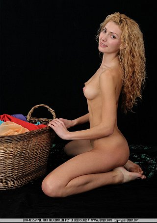 femjoy selena as the cutest ever naked laundress
