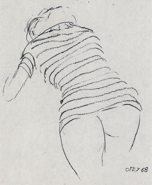 a stripper\'s ass as drawn by Nobel-winning physicist Richard Feynman