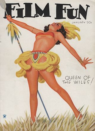 pinup cover from Film Fun magazine