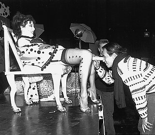 inspecting annie sprinkle\'s cervix