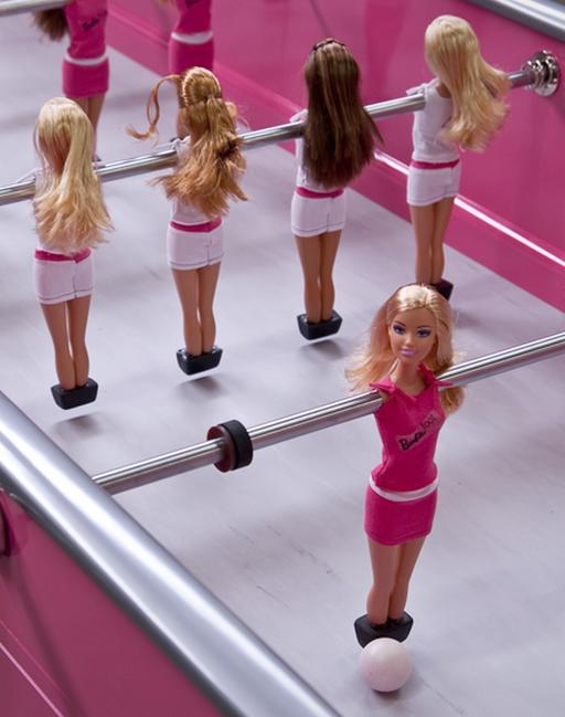 Barbie tabletop soccer for girls