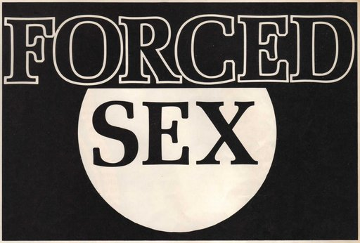 forced sex article header in 1970s cheesy porn magazine
