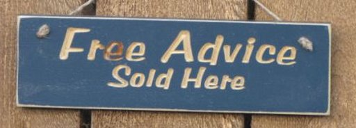 free advice sold here sign