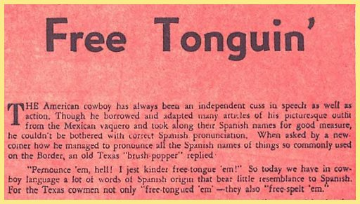 article about linguistic drift and borrow words from mexican spanish
