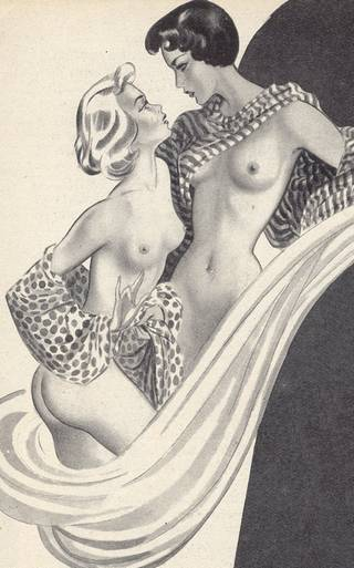 french lesbians in a magazine illustration