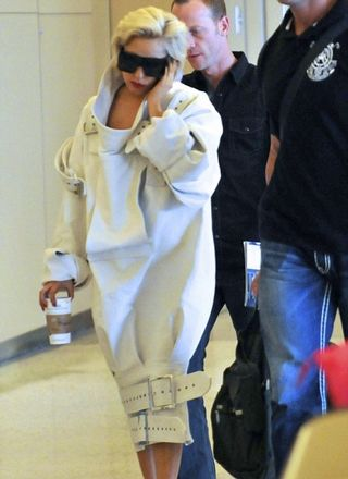 Lady Gaga making a statement about airport security