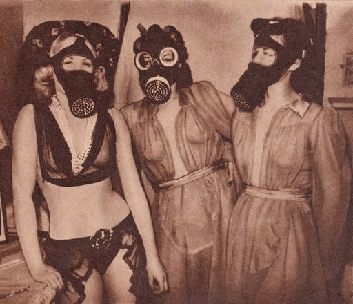 gas masks and nighties