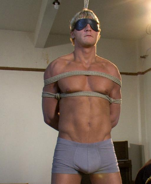 Gavin Waters tied up and ready for some teasing, ruined orgasm, and orgasm denial play